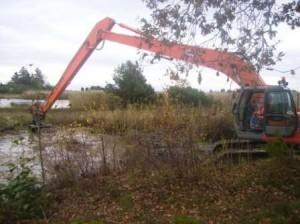 Kanalen rensas från vass